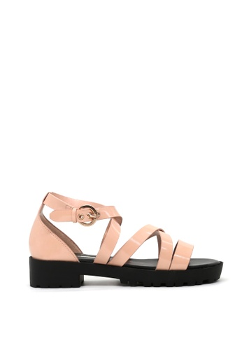 London Rag 米褐色 London Rag女士裸色低跟凉鞋SH1418 LO507SH0A5BLTW_1