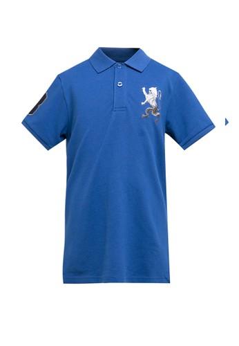 Giordano blue 3D Lion Junior Polo Shirt 6B9C6KA6045870GS_1