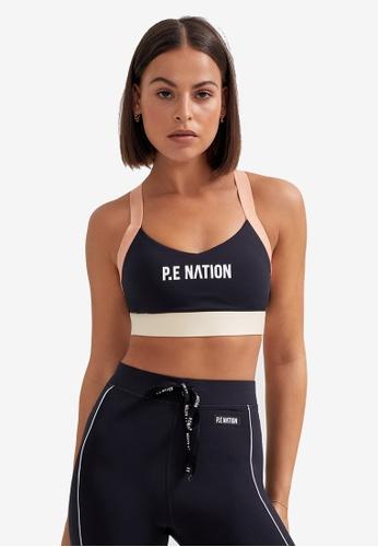P.E Nation black Pivot Sports Bra C17C9US34B1D4CGS_1