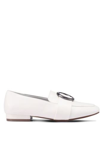 Bata white Slip On Loafers 99EE9SH9F50D11GS_1