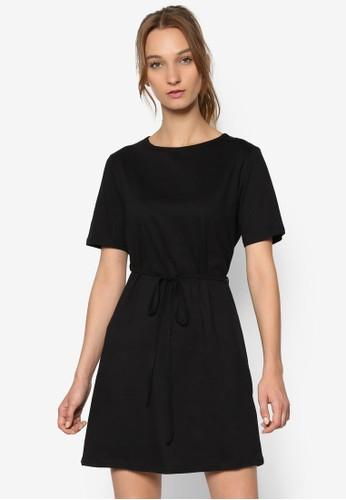 素色繫帶短袖連身裙esprit台灣網頁, 服飾, 洋裝