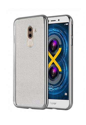 MobileHub silver Silicone Glitter Case for Huawei 6X MO220AC32ZAXPH_1