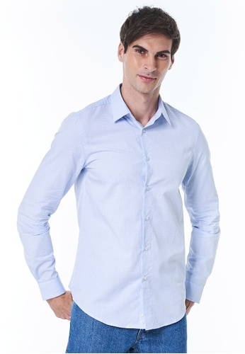 United Colors of Benetton blue Checked Shirt 657A3AA35D54EDGS_1