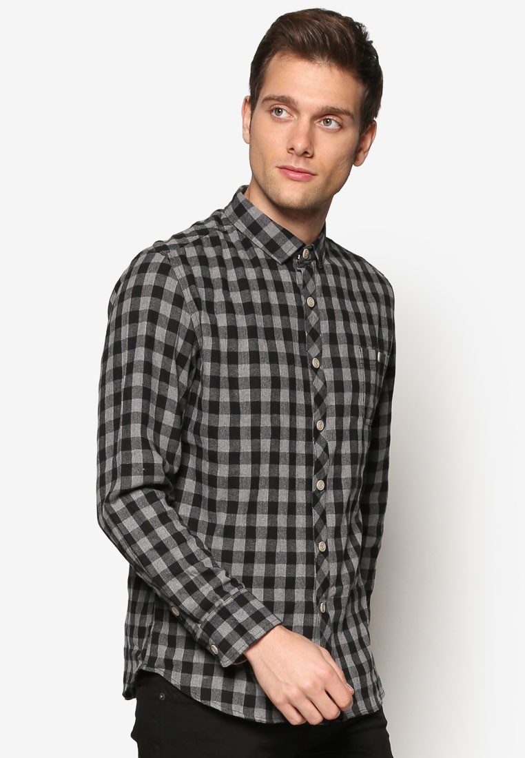Slim Fit Paisley Print Long Sleeve Shirt