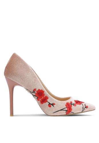 Nose pink Cherry Blossom Printed Heel Pumps NO327SH0RC94MY_1