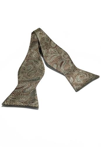 Splice Cufflinks Manual Series Brown Batik Design Self-tied Man Made Silk Bow Tie SP744AC10LABSG_1