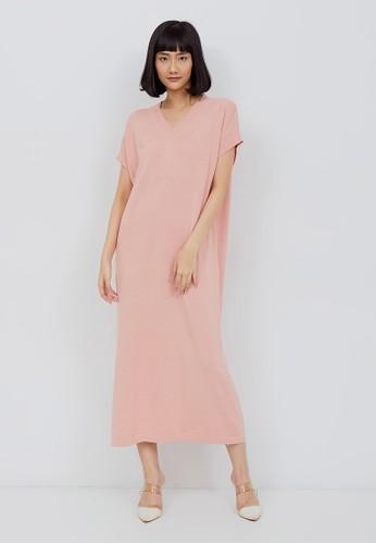 Kimora Kei pink Kimora Kei Baju Wanita Yoko Dress Dusty Pink 89F00AAB49386BGS_1