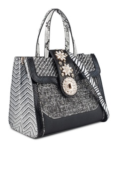 55% OFF River Island Jewel Tab Over Tote Bag RM 325.00 NOW RM 145.90 Sizes  One Size c6d2bb4d4e75c