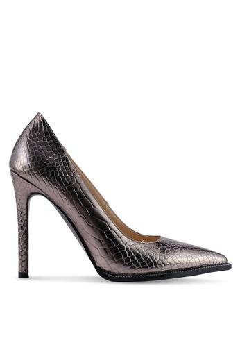 Public Desire 褐色 Badgal 鉚釘Sole Court Heels 3573DSHF64736CGS_1