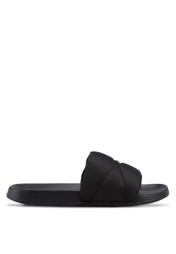 Bata black Slide On Sandals 56406SHA0871F9GS_1