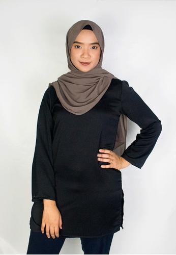 Zaryluq black Kurti Top in Whisper Black 41566AA1475A07GS_1