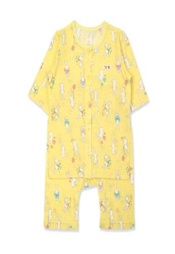 Organic mom yellow Organic Cotton Iris Rabbit 3/4 Sleeves Pjs 930EDKA6DC9089GS_1
