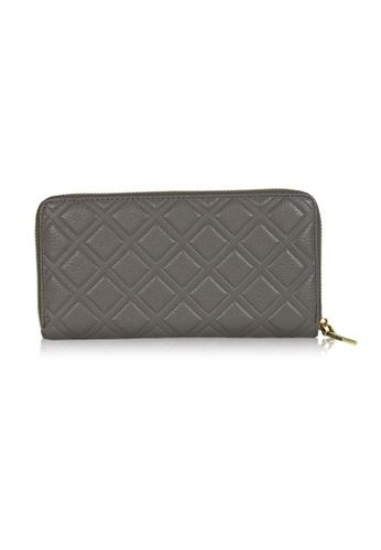 Dazz grey Calf Leather Iconic Quilted Wallet - Dark Grey DA408AC0S9JWMY_1