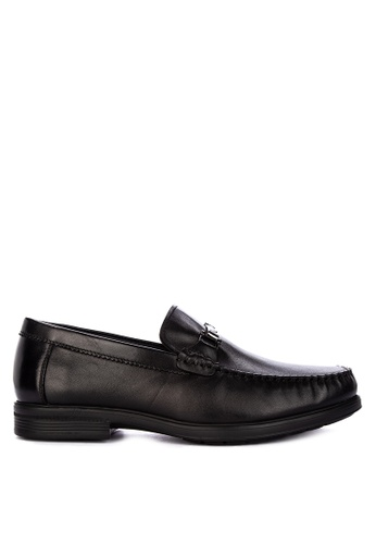 Sledgers black L.A. Horsebit Loafer 8B7AFSH1AFBA65GS_1