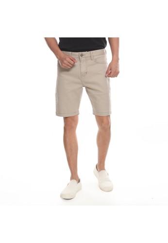 Juice Ematic Juice Ematic Celana pendek kain Pria Light Khaki MAX 5 POCKET AD977AAFBC455DGS_1
