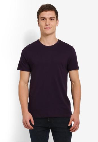 Burton Menswear London purple Opium Purple Crew Neck T-Shirt BU964AA0SILRMY_1