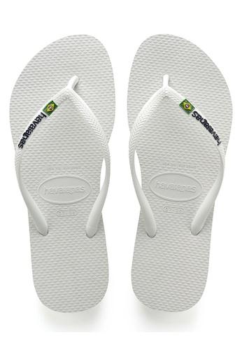 Havaianas white Slim Brasil  18, White Slippers 9875ESH3C1965DGS_1