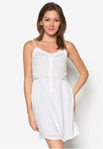 細肩帶蕾絲洋裝, 服飾, esprit 品質服飾