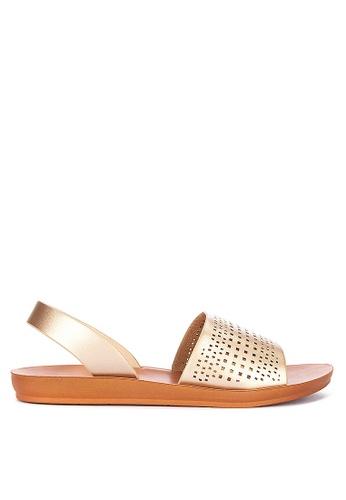 CLN gold Zoya Slingback Sandals 08DCASH41477A2GS_1