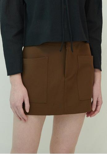 TAV [Korean Designer Brand] Mallory Skirt - Brown 49DF0AA9640B64GS_1