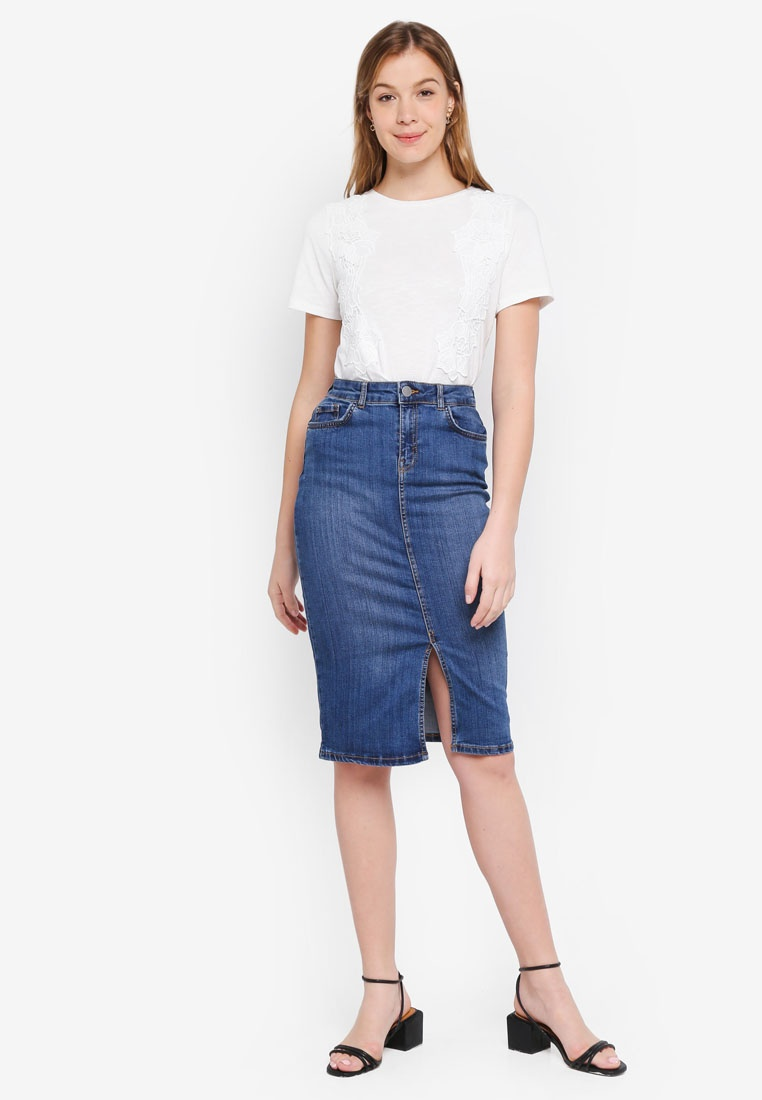 Blue Denim Skirt Perkins Dorothy Pencil Midwash qTx8XnAS