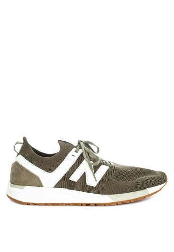 New Balance green 247 Deconstructed Lifestyle Sneakers 117F8SH432D313GS_1