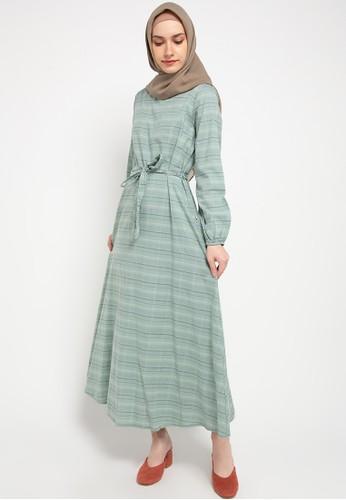 Expand green Sofia Longdress With Waist Strap Detail 2C159AAD3D1F2DGS_1