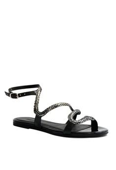 Anacapri Iris Strappy Flat Sandals