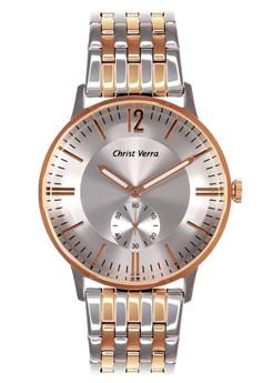 harga Christ Verra Fashion Men's Watch CV 52297G-14 SLV White Silver Rose Gold Stainless Steel