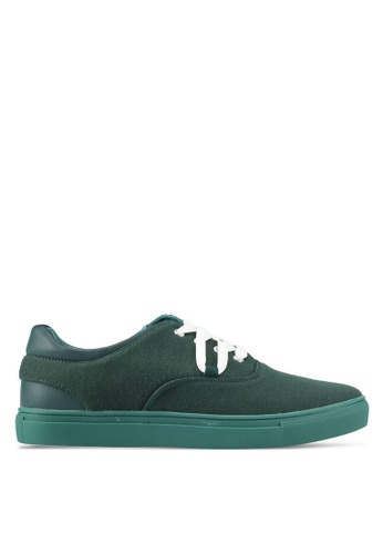 JAXON green Mixed Materials Casual Sneakers 15184SH7A2CEBAGS_1
