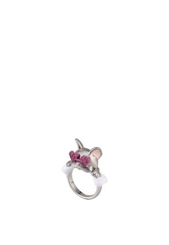 kate spade new york multi Francois French Bulldog Ring (cv) 570ECAC099B9B9GS_1