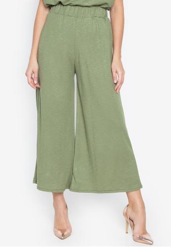 M and M green Wide Leg Pants 2F317AAB00469DGS_1