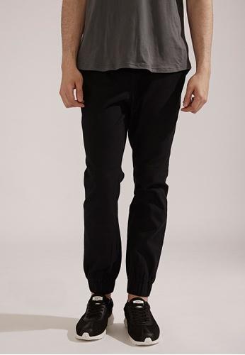 Life8 black Classic Casual Trouser Jogger Pants-02404-Black LI283AA0FFHKSG_1