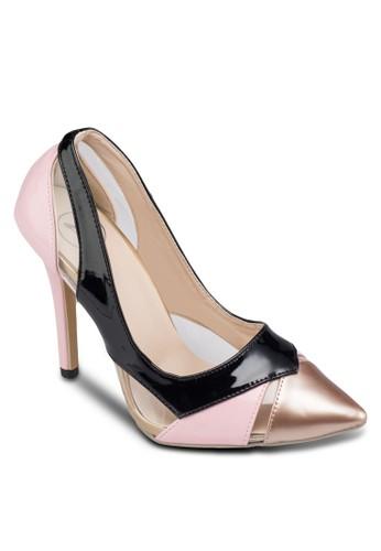 撞色拼接高跟鞋, 女鞋,zalora鞋 鞋
