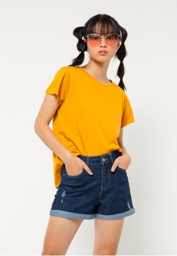 COLORBOX yellow Regular Loose T-shirt 38935AAE051FD6GS_1