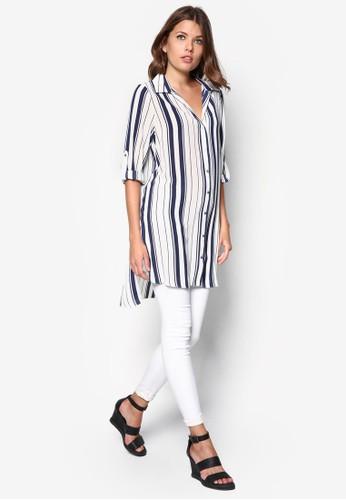 條紋長版上衣, 服zalora時尚購物網評價飾, 服飾