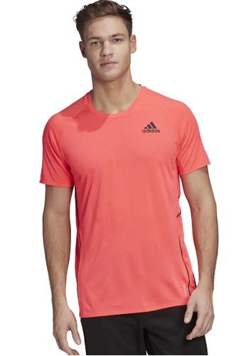 ADIDAS pink runner tee men 630F7AA0949842GS_1