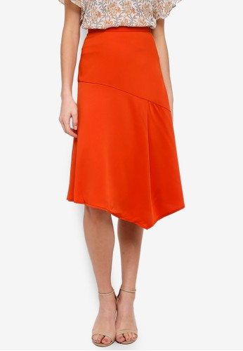 FORCAST orange Marie A-Line Skirt 6BBF6AA60E6887GS_1