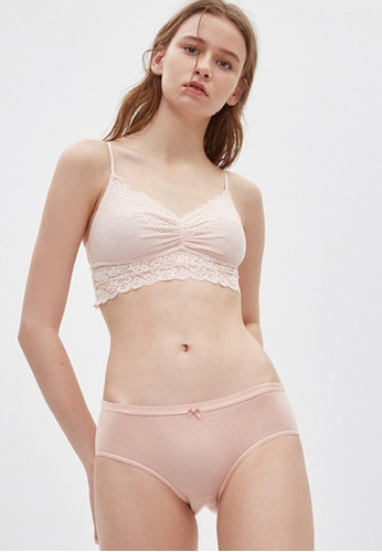 Celessa Soft Clothing Midsummer Love Song - Mid Rise Cotton Crossed Back Brief Panty EF1ADUSFBE4D59GS_1