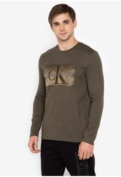 Calvin Klein green Monogram T-Shirt ED286AAAF67727GS 1 4b8a729dc4