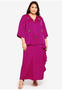 f970b8b96c2 Ms. Read pink Embellished Vneck Kurung 5AD73AA2C2856CGS 1