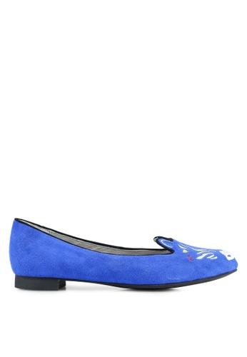 House of Avenues blue Animal Flats HO685SH0RRATMY_1