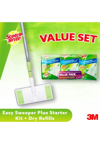 Scotch-Brite 3M Scotch Brite Easy Sweeper Plus Starter Kit + Easy Sweeper Dry Refills (3 X 20 Sheets) Value Pack [Combo Set] DAEC1ES6E259F8GS_1