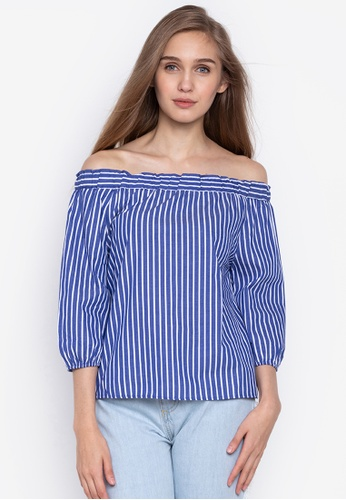 3faa055d5b3 Shop BENCH Striped Off Shoulder Top Online on ZALORA Philippines