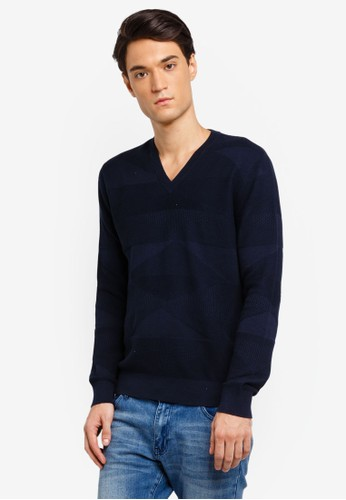 Armani Exchange navy Contrast Stitch Pullover A5F45AAF5F160EGS_1