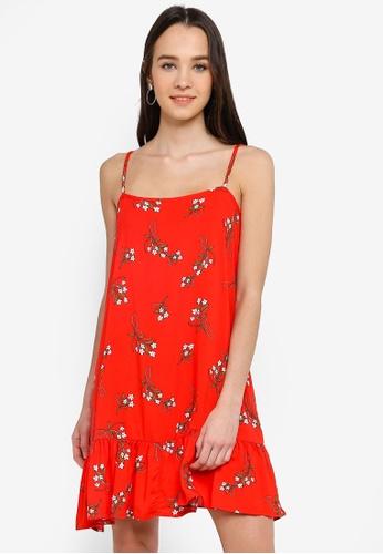Cotton On red Woven Leni Frill Hem Mini Dress 25A6AAA9BD9DECGS_1