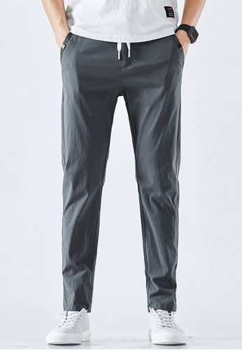 Trendyshop grey Slim Casual Pants 72E95AA781140AGS_1