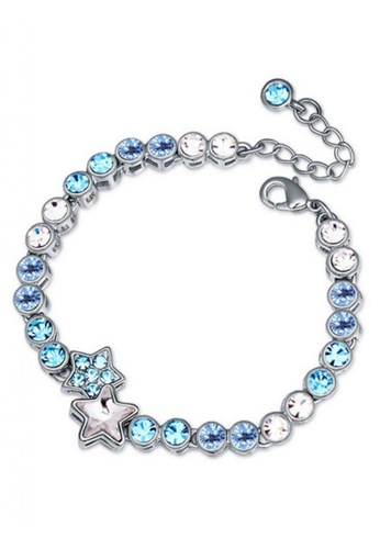 LOVENGIFTS white and blue LOVENGIFTS Starry Bracelet (Blue) LI189AC86ASBMY_1
