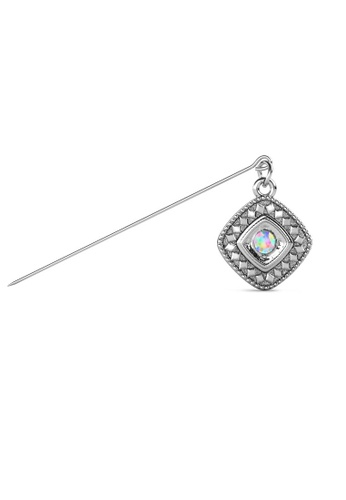 Her Jewellery silver Kamya Brooch (April) - Made with Premium grade crystals from Austria 95576ACED98682GS_1