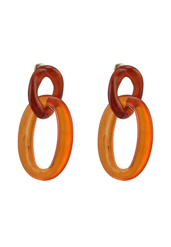 Rubi brown and multi Double Link Resin Spice Market Earrings EB6EDAC7BAED94GS_1